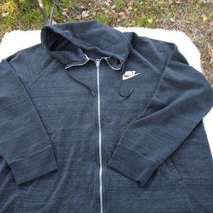 Nikes hoodie zipper front mid weight huge xxl